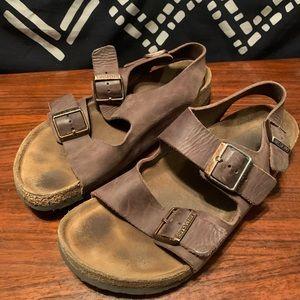 Back strap leather Birkenstock sandals